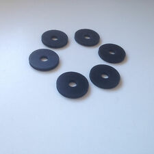 6 X RUBBER GUITAR STRAP LOCK WASHERS