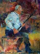 "STUNNING ORIGINAL SERA KNIGHT S.W.A ""The Bassoon Player"" MUSIC PAINTING"