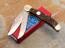 QUEEN CUTLERY STAG JIGGED BONE FOLDING HUNTER KNIFE #39SB, NEW, MINT IN BOX