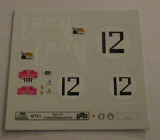 DECAL FERRARI 212 III CARRERA PANAMERICANA 1952 #12 BBR 1/43 COD.KIT31