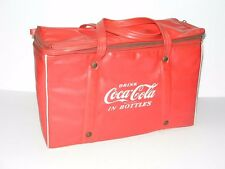 VINTAGE DRINK COCA-COLA COKE VINYL PICNIC COOLER BAG