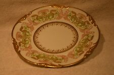 """J.P. LIMOGES JEAN POUYAT GOLD SCALLOPED FLORAL 8 3/4"""" CABINET PLATE 1890-1932#2"""