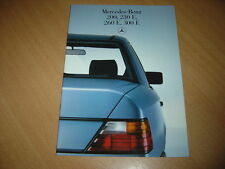 CATALOGUE Mercedes 200 à 300 E de 1986