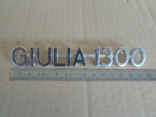 BADGE LOGO SCRITTA ALFA ROMEO GIULIA 1300