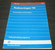 VW Golf 3 III Typ 1H Radio Anlagen  Selbststudienprogramm  SSP 147  09/1993
