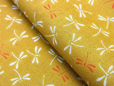 Japanese Fabric_Cotton_Mustard,Tonbo_Half Yard,#m011