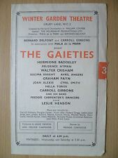 WINTER GARDEN THEATRE- BERNARD DELFONT,C GIBBONS,MALA DE LA MARR in THE GAIETIES