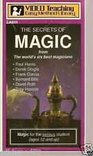 The Secrets of Magic (VHS, 1988) from 6 of the best stage magicians