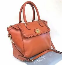 RRP$595 NEW OROTON Paddington Tote Handbag Work Uni Bag Leather Brown Tan SALE
