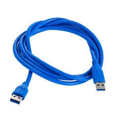 USB 3.0 Type A Male to Type A Male 6FT 1.8m Extension Data Sync Cord Cable Blue