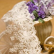 New Lace Trim Fashion Embroidered Tulle Fabric Sewing Clothes Handicrafts 1 Yard