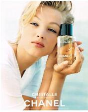PUBLICITE 1998    CHANEL  cosmétiques senteurs CRISTALLE  collection parfum
