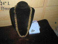 15mm 18K Yellow Gold Filled Chain Chunky Necklace, Men's Birthday Fashion Gift