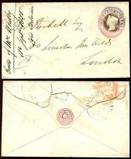 GB QV STATIONERY 1850 BLUE CANCEL of BLANDFORD