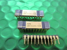 GM76C64C-70B, RARE Collectable Gold top and legs IC, Early SRAM, 64KX1,