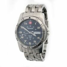 Mens Wenger 096.0935 Swiss Made Mineral Crystal 100 Meter WR Day Date Watch