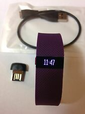 Fitbit Charge HR Activity Sleep Heart Rate Type Wristband-Plum Purple-Large-Nice