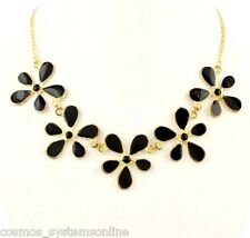 Cosmos Highly Fashionable Trendy Necklace For Girls/Woman Color Gold Black Meena