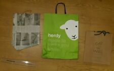 3x paper carrier gift bags Herdy