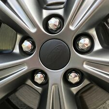 2013-2016 Ford Focus ST 55mm Wheel Center Cap Decals (Matte Black)
