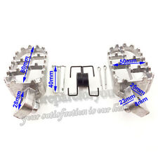 Aluminium Footrest Foot Pegs For Pit Dirt Bike Honda XR50R CRF 50 70 80 CRF100F