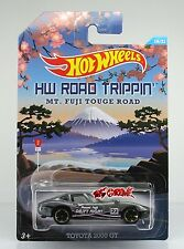 Hot Wheels 2015 ROAD TRIPPIN' MT. FUGI TOUGE ROAD Toyota 2000 GT GREY,US,NEW