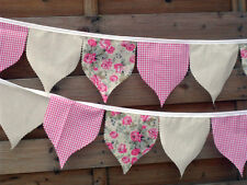 Handmade Pendant Fabric bunting 10ft 21 flags Brand New ~ Unique Design