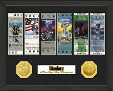 Pittsburgh Steelers 6X Super Bowl Championship Ticket and Bronze Coin Collection