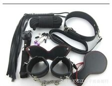 7 Pcs Sex Toy Bondage Set Adult Kit Handcuffs Legcuffs Ball Ropes Blindfold