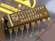 10x PC74HCT366P Hex Inverting Buffer/Line Driver 3-state, Philips
