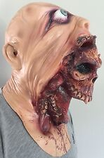 NEW ADULT MELTING FACE ZOMBIE BLOODY UNDEAD HORROR LATEX HALLOWEEN MASK