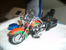 FRANKLIN MINT CHRISTMAS 2003 HARLEY DAVIDSON SOFTTAIL 1/10 NMIB CERT ACCESS.
