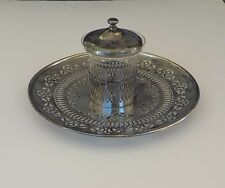 Silver Serving Plate - Etched Glass Jam Center Piece - VBC NS