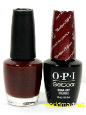 OPI Gel & Nail Polish BREAKFAST at TIFFANY'S H12- Can't Read Without My Lipstick