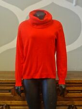 LYLE & SCOTT Vintage Tomato Red 100% Cashmere Cowl Turtleneck Sweater - 40