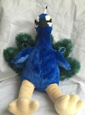"Build A Bear Workshop 18"" Plush Peacock Retired BABW Rare"