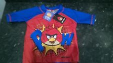 Angry Birds SPF 50 + nager set,18-24m, 3/4, 5/6, 7/8 ans rouge & bleu rrp £ 19.99 Bnwt