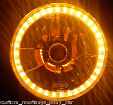 AMBER Halo H4 Head Light Lamp Angel Eye Toyota Corolla KE10 KE20 KE30 KE55 Hilux