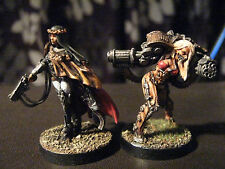pro painted Raging Heroes alt 40K sister of battle and Servitor.