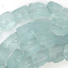 "18-25mm aquamarine blue quartz freeform nugget beads 16"" strand"