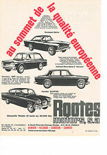 PUBLICITE ADVERTISING  1963   ROOTES    HILLMAN HUMBER