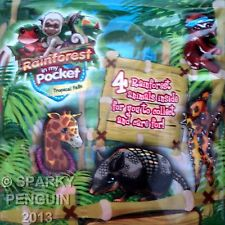 PUPPY IN MY POCKET 4 X RAINFOREST JUNGLE ANIMALS GIFT PACK - TROPICAL FALLS