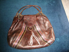 New large brown leather with sequin design bag from Debenhams