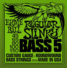 Ernie Ball Regular Slinky 5-string Bass Guitar Strings Nickel Wound 2836