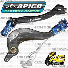 Apico Black Blue Rear Brake & Gear Pedal Lever For Yamaha YZ 450F 2014-2015 MX