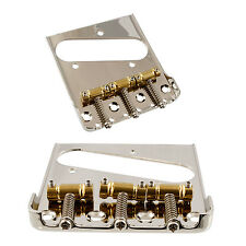 "Bridge for Telecaster Tele for Bigsby w/o Mods, GOTOH Brass ""In-Tune"" BS Saddles"