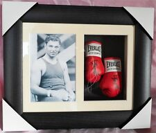 Jack Dempsey Mini Signed Boxing Gloves Framed