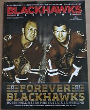 2011 Chicago Blackhawks Bobby Hull Stan Mikita Program Statue Unveiling Forever