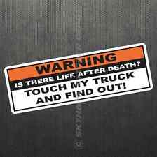 Warning Funny Vinyl Decal Bumper Sticker Don't Touch My Truck Diesel fits Dodge