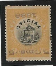 Venezuela: T official 1899; Scott 6, Invert overprint, MH, rust, but rare. VE099